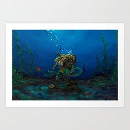 Deep Sea Love Art Print