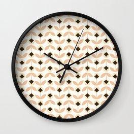 Little Orange Blossoms Pattern Wall Clock