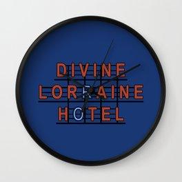 Divine Lorraine Hotel Wall Clock