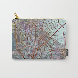 Manila Philippines Watercolor Street Map Urban Carry-All Pouch