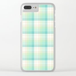 Winter Plaid 4 Clear iPhone Case