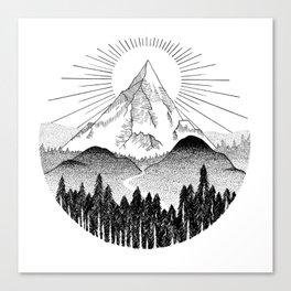 Sunset Mountain Sunrise Canvas Print