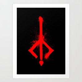 Bloody Rune Art Print