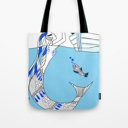 Pisces / 12 Signs of the Zodiac Tote Bag