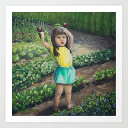 She's Got the Beets, Growing Food and Growing Children Art Print