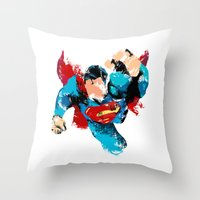 hero Throw Pillows featuring HERO by ALmighty1080