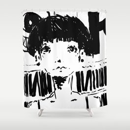2017 Collection • Post Rock Uno Shower Curtain