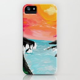 Black sands iPhone Case