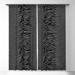 Unknown Pleasures Original Deep Space Black  Blackout Curtain