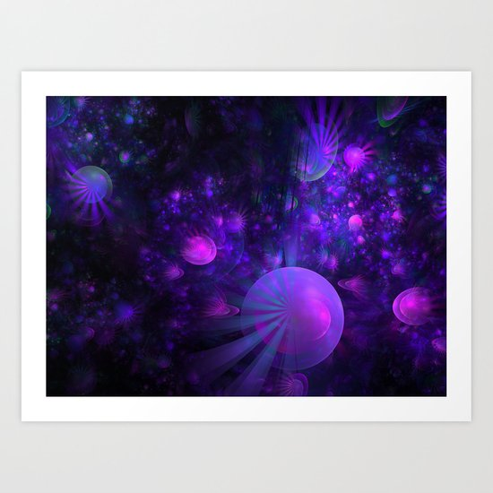 Jellyfish Fields Forever Art Print