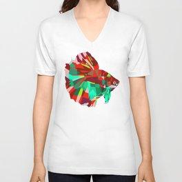 Betta fish Geometric artwork Unisex V-Neck