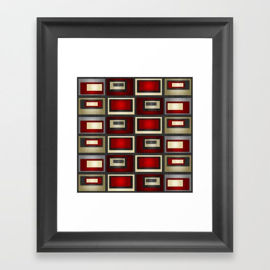 Dark Romance Geometric Framed Art Print
