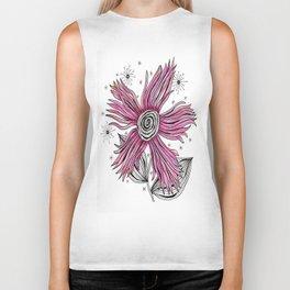 My Funky Valenting - Zentangle Pink Flower Biker Tank
