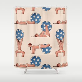 Almost Naked Sporty Chubbies Shower Curtain