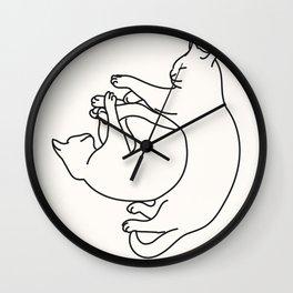 Sleeping cats II Wall Clock