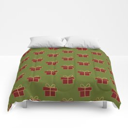 Christmas gifts - green and red Comforters