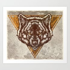 Ghost Wolf Art Print