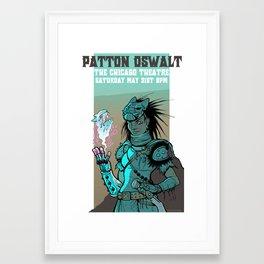 Patton Oswalt- Chicago Theatre poster- 2014 Framed Art Print