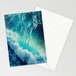 Waving Blue Stationery Cards