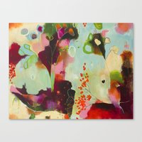 "flora bowley Canvas Prints featuring ""Deep Embrace"" Original Painting by Flora Bowley by Flora Bowley"