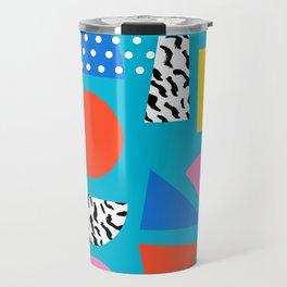 Airhead - memphis retro throwback minimal geometric colorful pattern 80s style 1980's Travel Mug