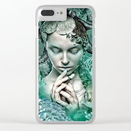 Her love is secure like currents that hold tight Clear iPhone Case