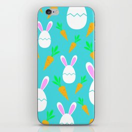 Happy Bunnies & Carrots | Easter Bunny | Easter Egg Bunny | pulps of wood iPhone Skin