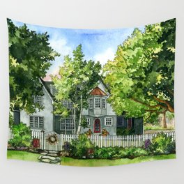 The Red Door Wall Tapestry