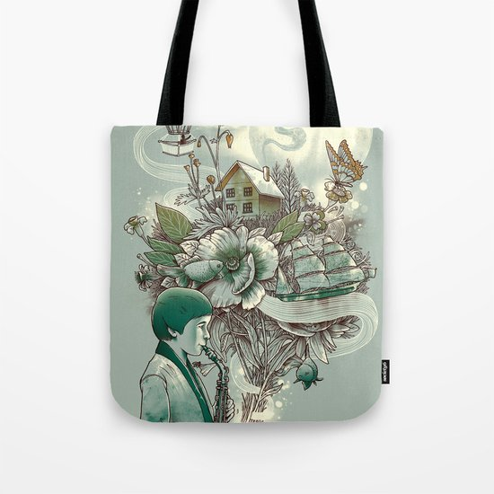 'In Tune with Nature' Tote Bag