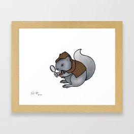 Squirrel-lock Holmes Framed Art Print