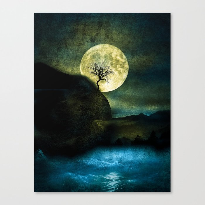 The Moon and the Tree. Canvas Print