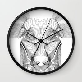 """""""Favorite Collection"""" - Abstract Lines Deer Face Print Wall Clock"""