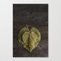 I heart leaves Canvas Print