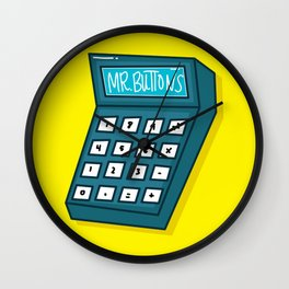 Mr Buttons Wall Clock