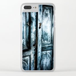 Lifes Doors Clear iPhone Case