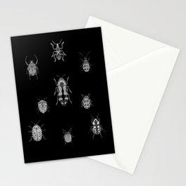 Beautiful Bugs Black Stationery Cards