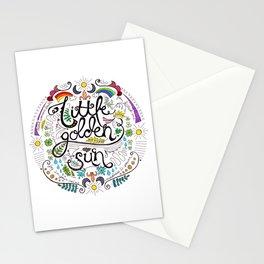 Little Golden Sun Stationery Cards