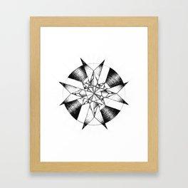 Crystalline Compass Framed Art Print