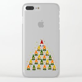 Merry Gnoming Christmas Clear iPhone Case