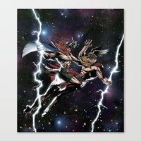 vikings Canvas Prints featuring Space Vikings by Go_Media