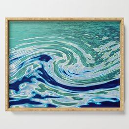OCEAN ABSTRACT 2 Serving Tray