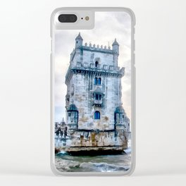 Belém Tower, Lisbon (Portugal) Clear iPhone Case