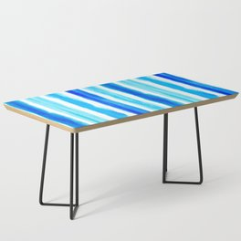 Laird Blue Stripes Coffee Table