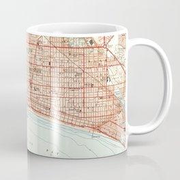 Vintage Map of Long Beach California (1949) 2 Coffee Mug