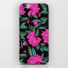 Fuscia Floral iPhone & iPod Skin