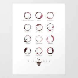 Red Wine Stains Art Print