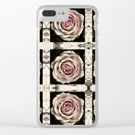 Vintage Rose Clear iPhone Case