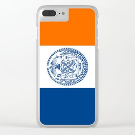 flag new york city,america,us,statue of liberty,big apple, New Yorker,Albany,Broadway,Manhattan,Bron Clear iPhone Case
