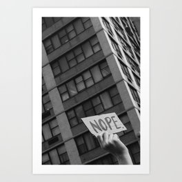Nope, Women's March 2017 Art Print