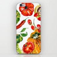 vegetable iPhone & iPod Skins featuring Vegetable mix by Liliya Kovalenko